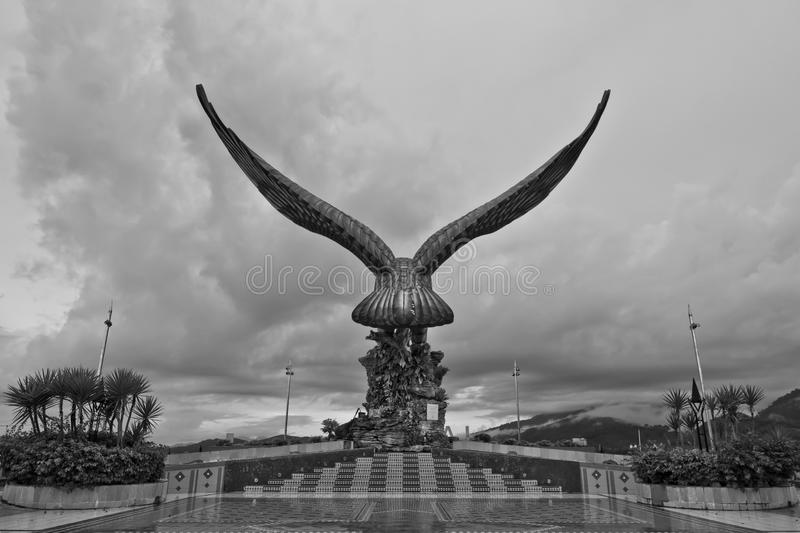 Eagle Statue Back View, Pulau Langkawi, Kedah, Malaysia stock photography