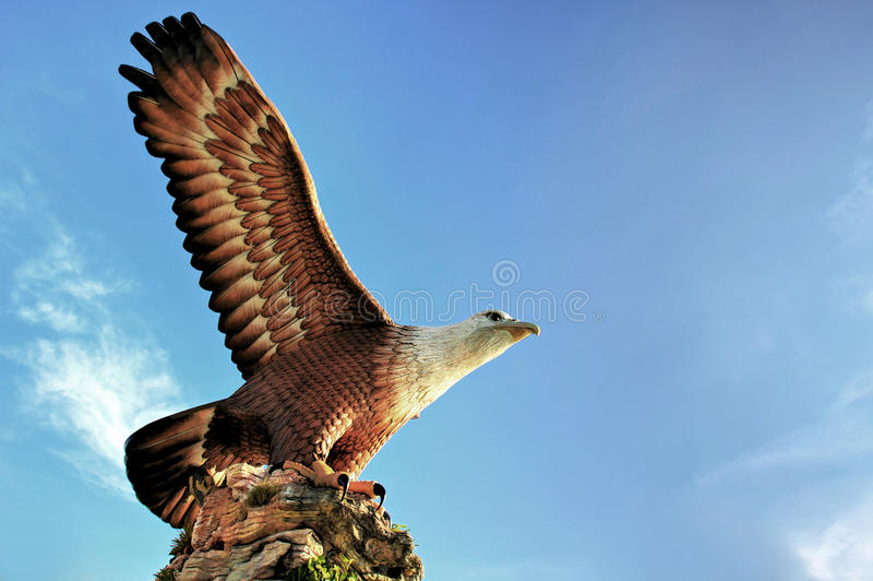 Eagle Statue at Langkawi Island royalty free stock images