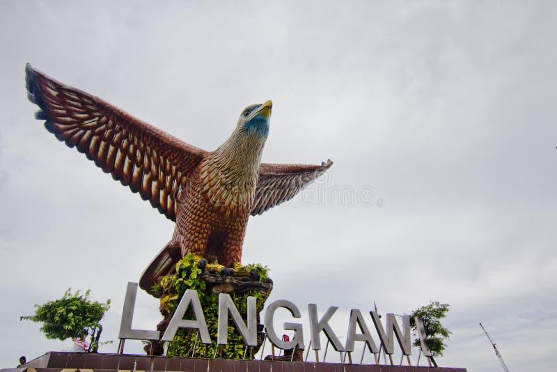Eagle Statue, Pulau Langkawi, Kedah, Malásia fotografia de stock royalty free