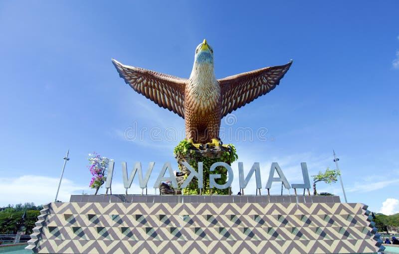Eagle Statue, Symbol von Langkawi-Insel, Malaysia lizenzfreie stockfotografie