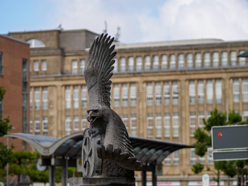 Eagle-Statue in Wilhelmshaven stockbild