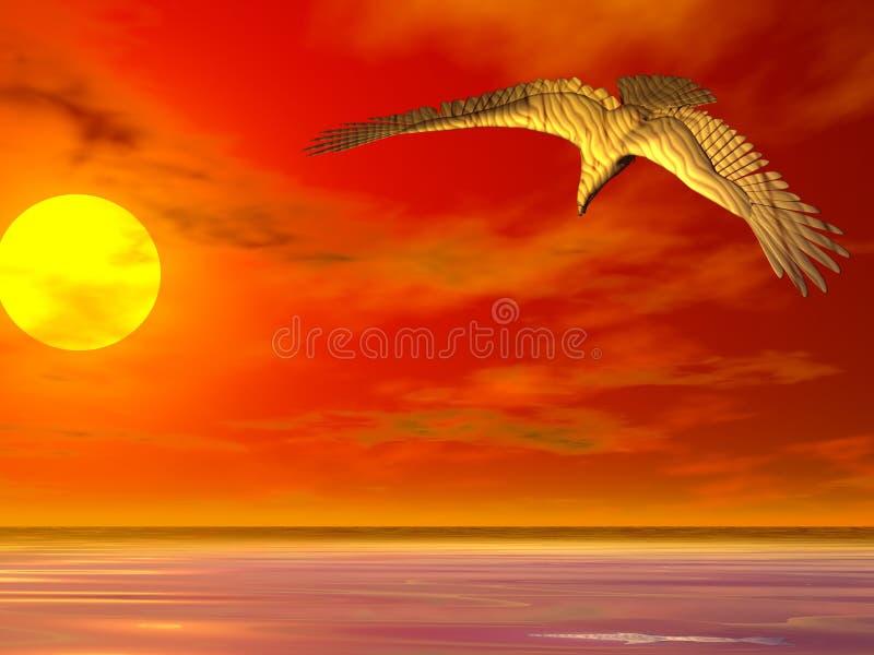Eagle Sunrise royalty free stock photo