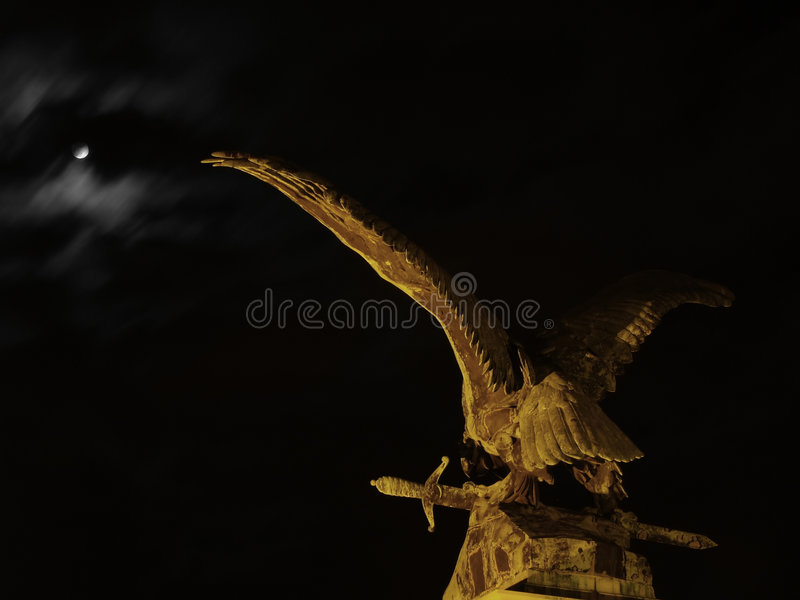 Eagle with sword stock photo
