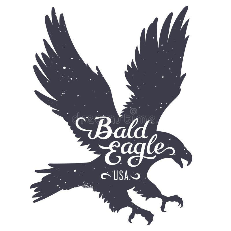 Eagle sylwetka 003 ilustracja wektor