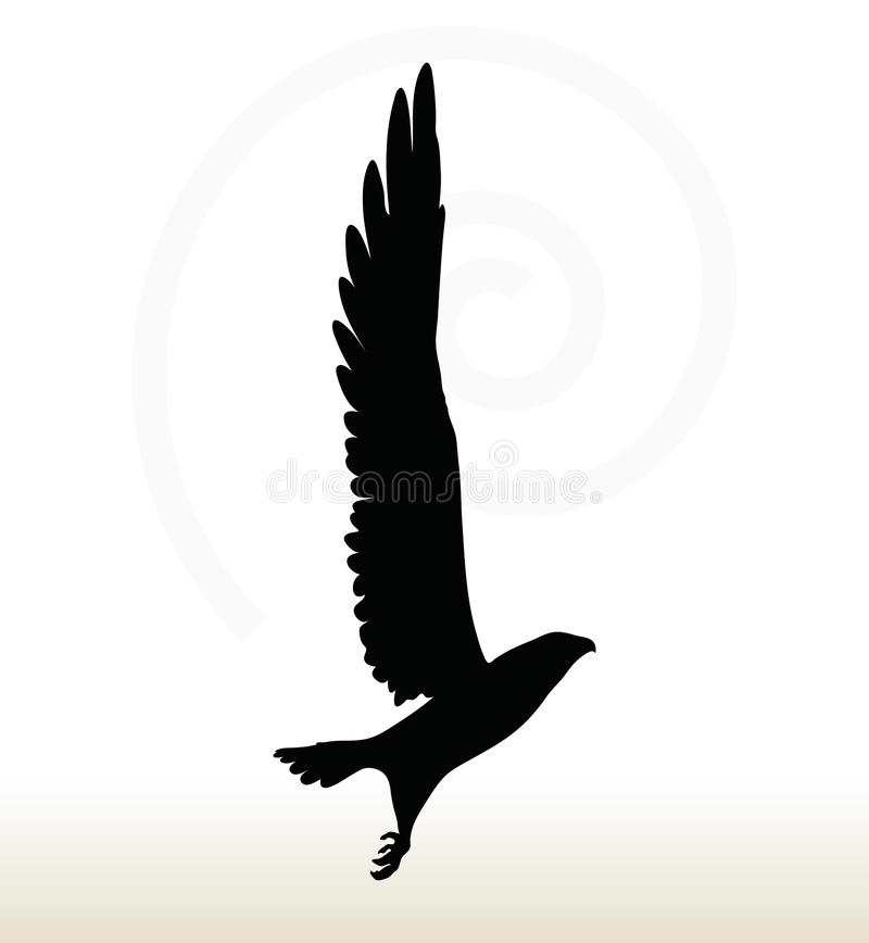 Eagle sylwetka royalty ilustracja