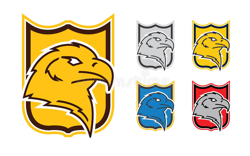 Eagle symbol stock illustrationer