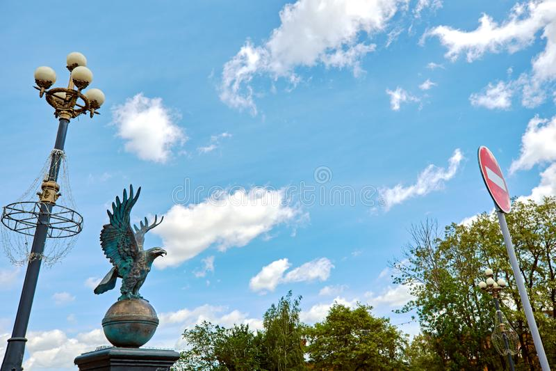 Eagle symbol miasto obraz royalty free