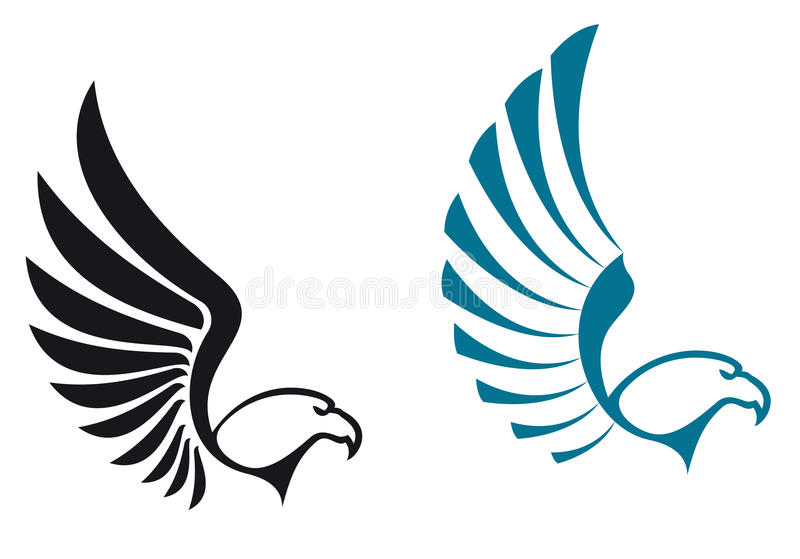 Eagle symbols royalty free illustration