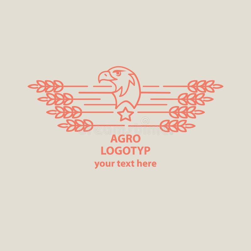 Eagle symbolu ilustracja Logo dla agroculture royalty ilustracja