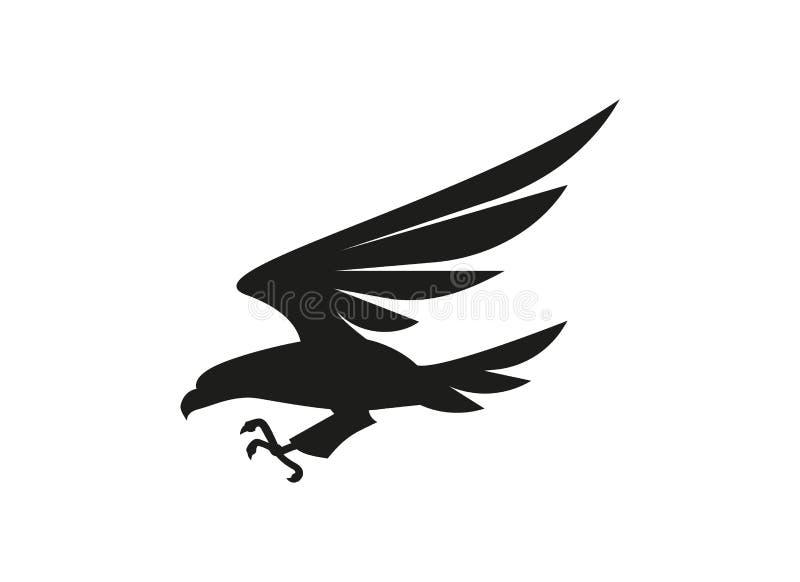 Eagle-symbool of tekenillustratie op witte achtergrond royalty-vrije illustratie
