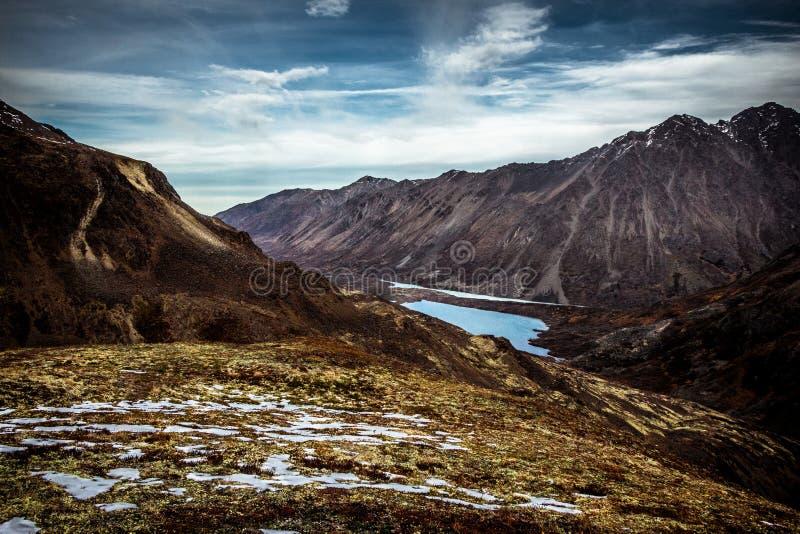 Eagle & symfoni sjöar Alaska royaltyfri foto