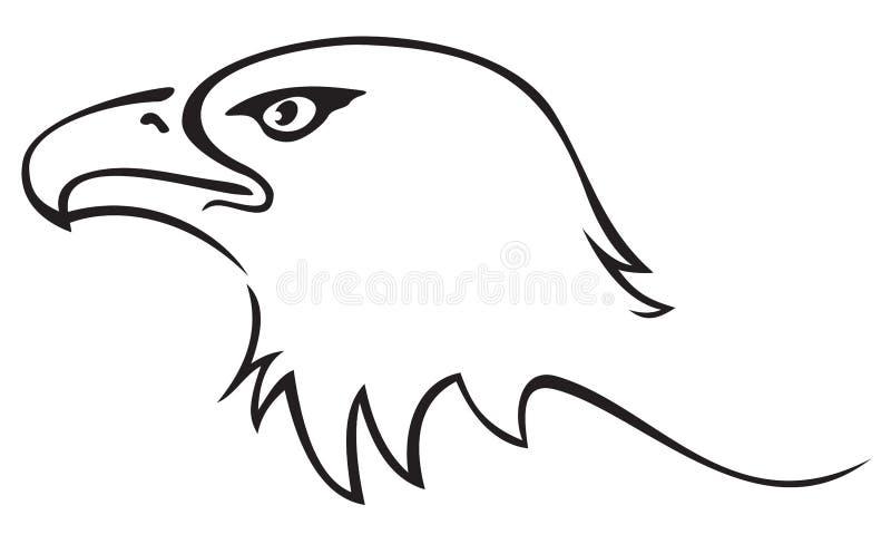 Eagle tattoo. Illustration of eagle head isolated on white background