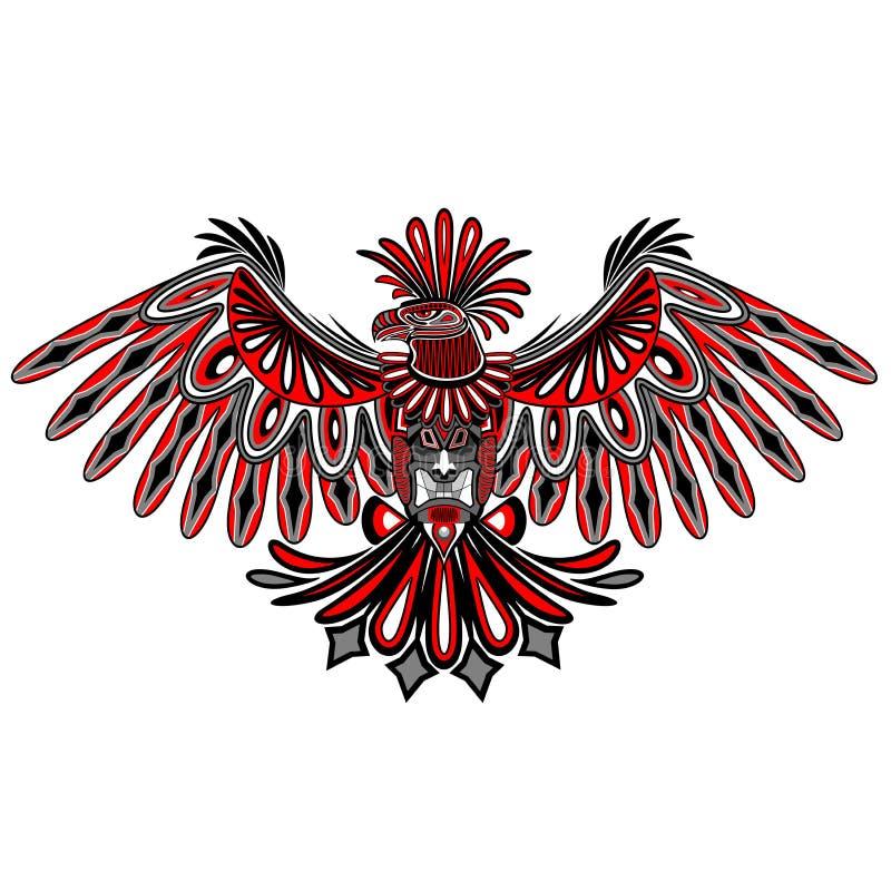 Eagle Tattoo Style Haida Art lizenzfreie abbildung