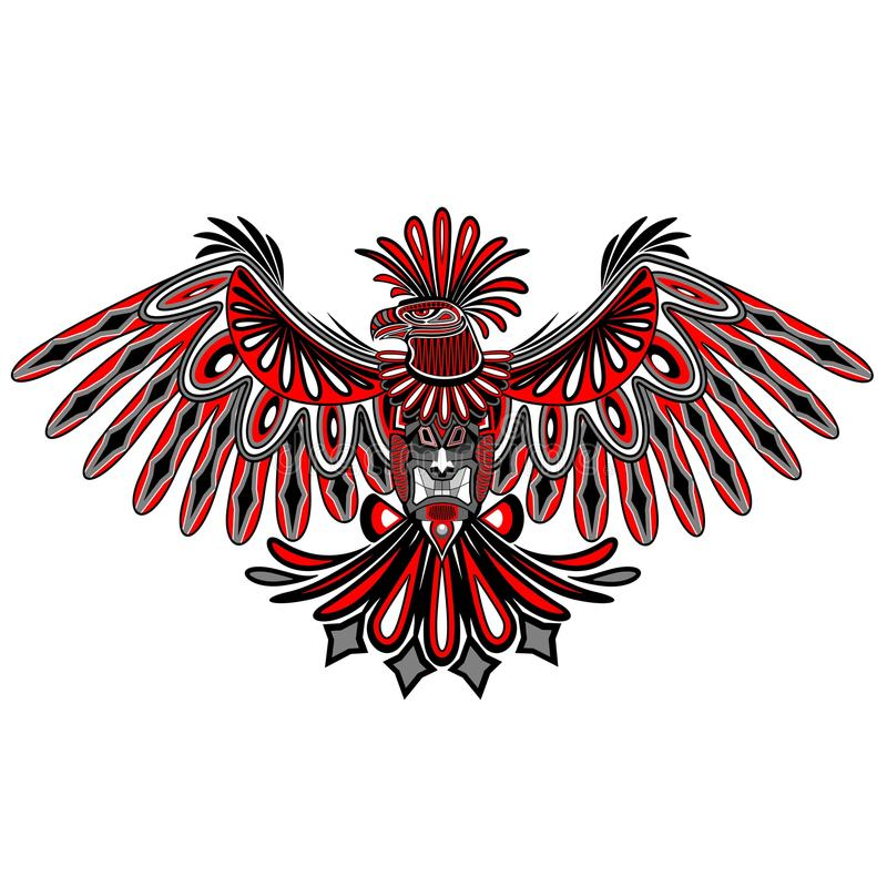 Download Eagle Tattoo Style Haida Art Stock Vector - Illustration of ethnic, native: 62433885