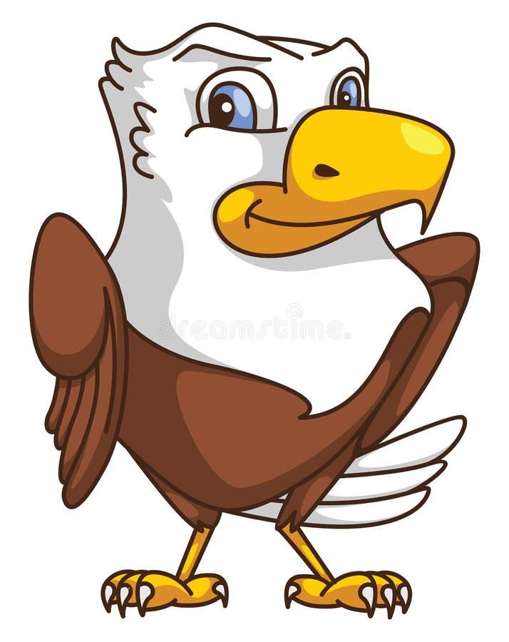 Eagle tecknad film stock illustrationer