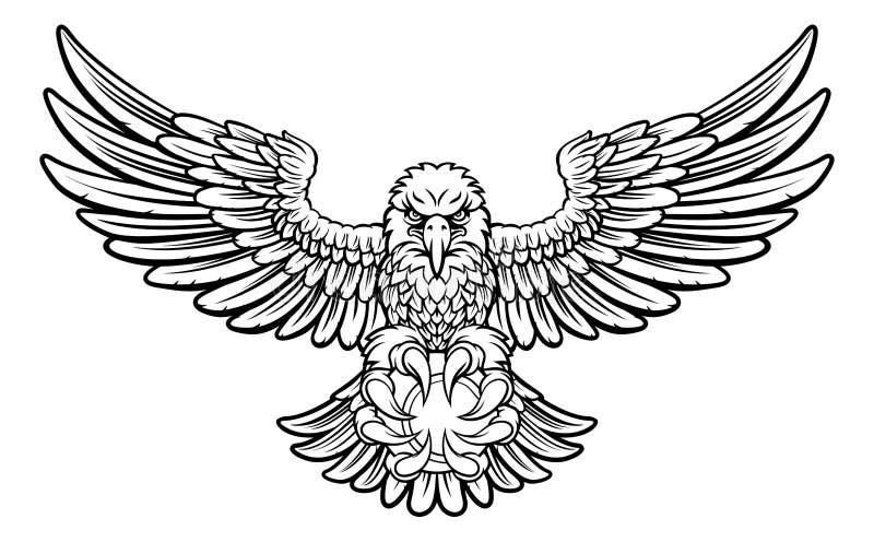 Eagle Tennis Sports Mascot lizenzfreie abbildung