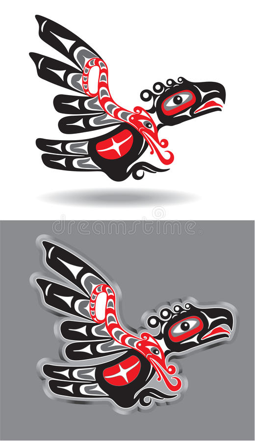 Eagle or Thunderbird in Native American Style vector illustration