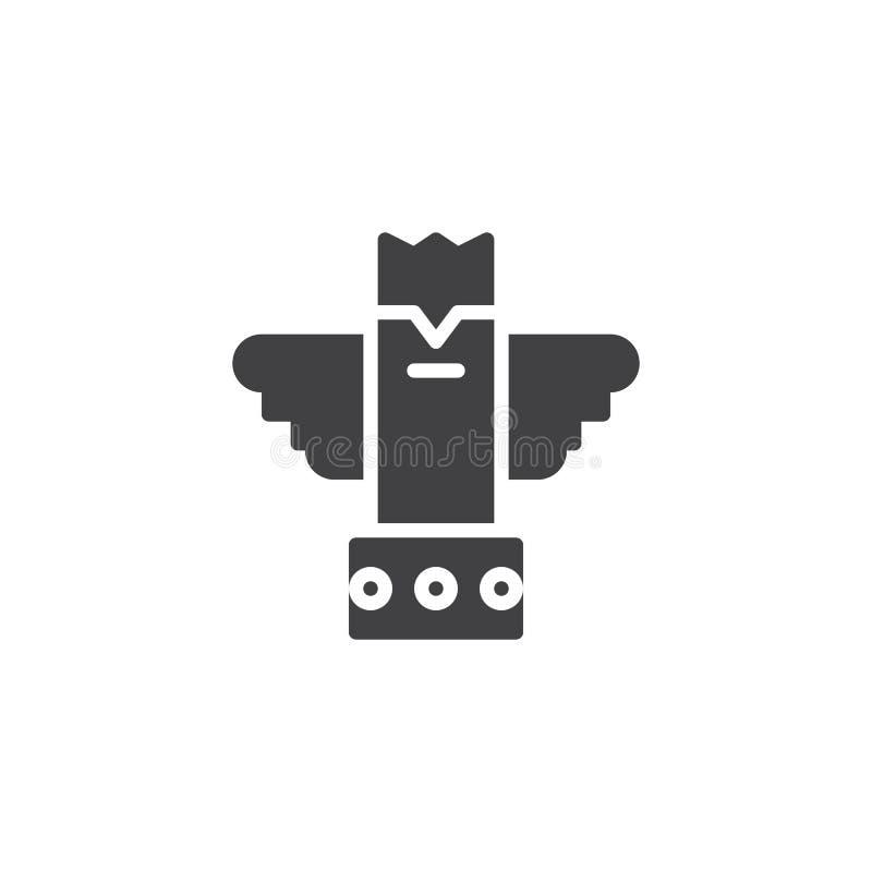 Eagle-Totemvektorikone vektor abbildung