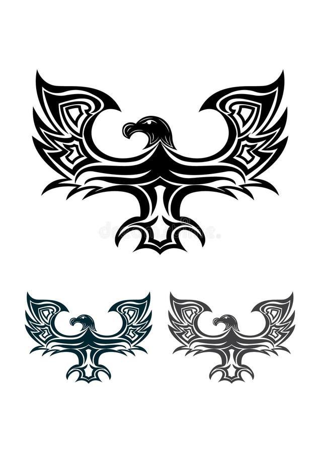 Eagle tribal ilustração royalty free