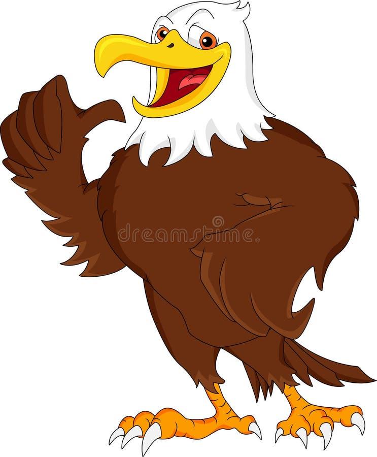 Eagle tummar upp royaltyfri illustrationer