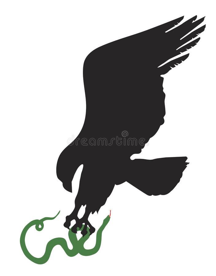Eagle und Schlange stock abbildung