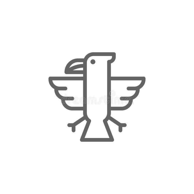Eagle, USA-Ikone Element von 4. von Juli-Ikone D?nne Linie Ikone f?r Websitedesign und Entwicklung, APP-Entwicklung Erstklassige  vektor abbildung