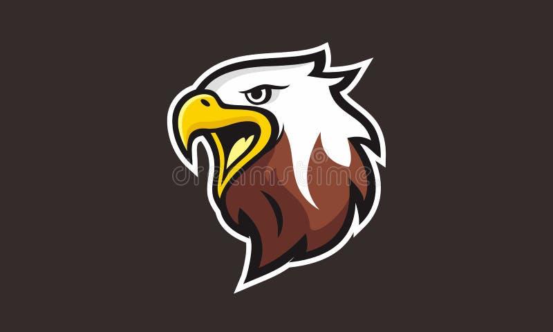 Eagle vänder mot det unika logolaget stock illustrationer