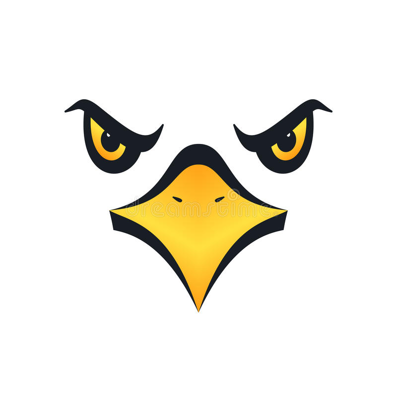 Eagle vänder mot, illustrationen vektor illustrationer
