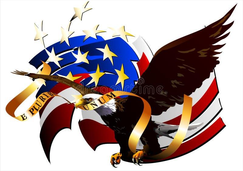 Eagle van de Verenigde Staten. (Vector) stock illustratie