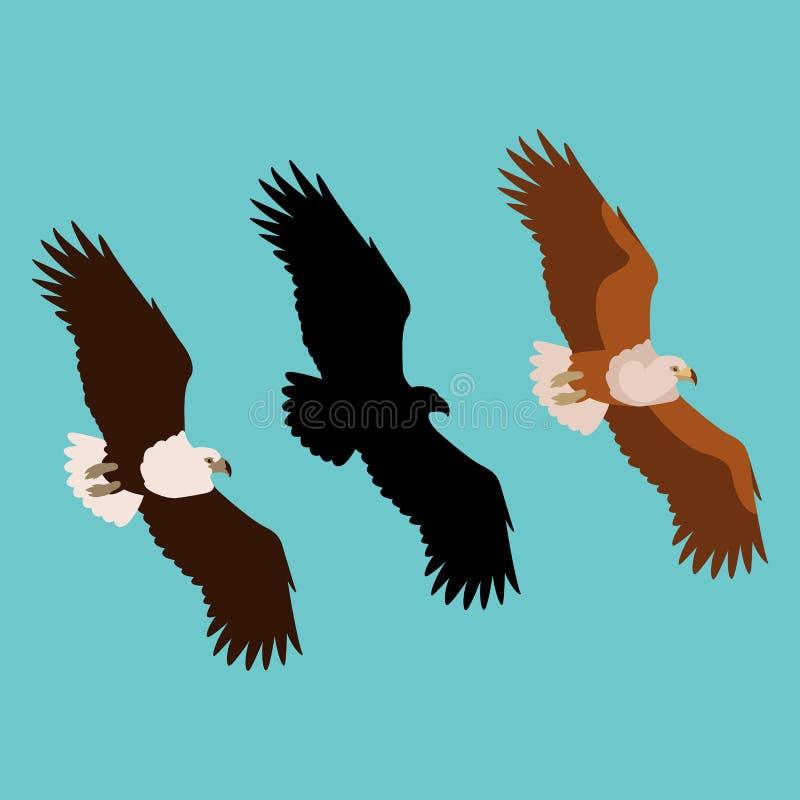 Eagle vector illustration flat style profile side royalty free illustration
