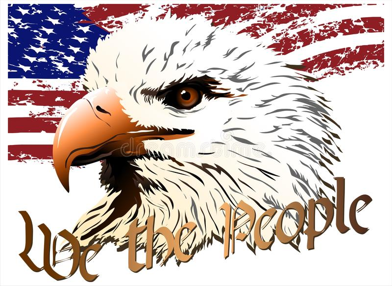 Eagle. (Vector). Vector image of an eagle, the symbol of the United States royalty free illustration