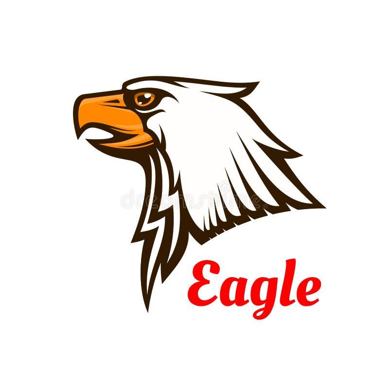 Eagle vektoremblem Grafiskt symbol för hök stock illustrationer
