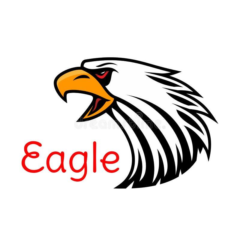 Eagle vektoremblem Skriande höksymbol vektor illustrationer