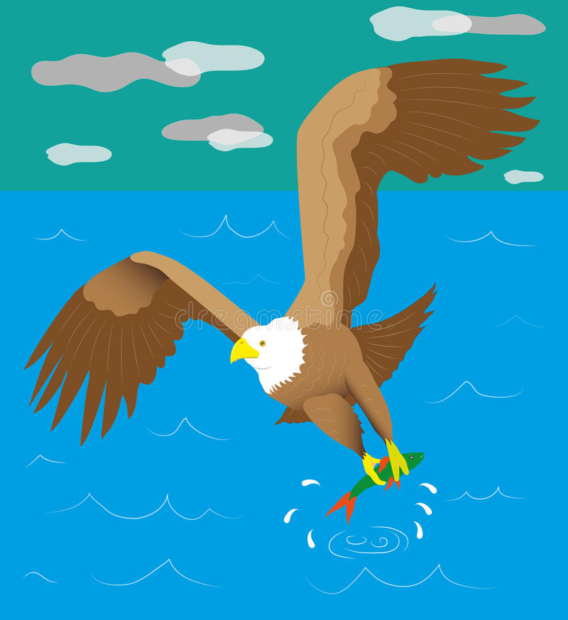 Eagle-visser vector illustratie