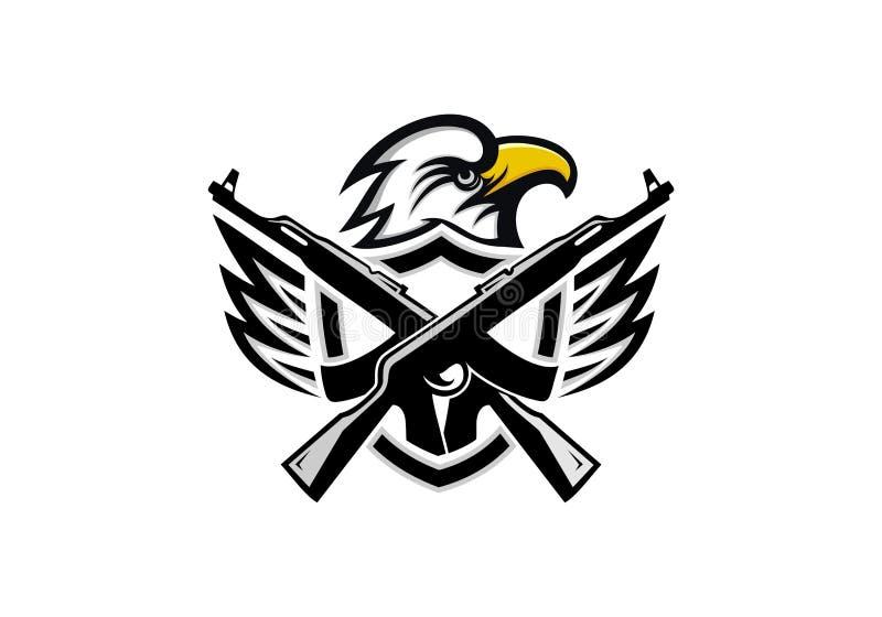 Eagle wektor, logo drużyna i ilustracja, royalty ilustracja