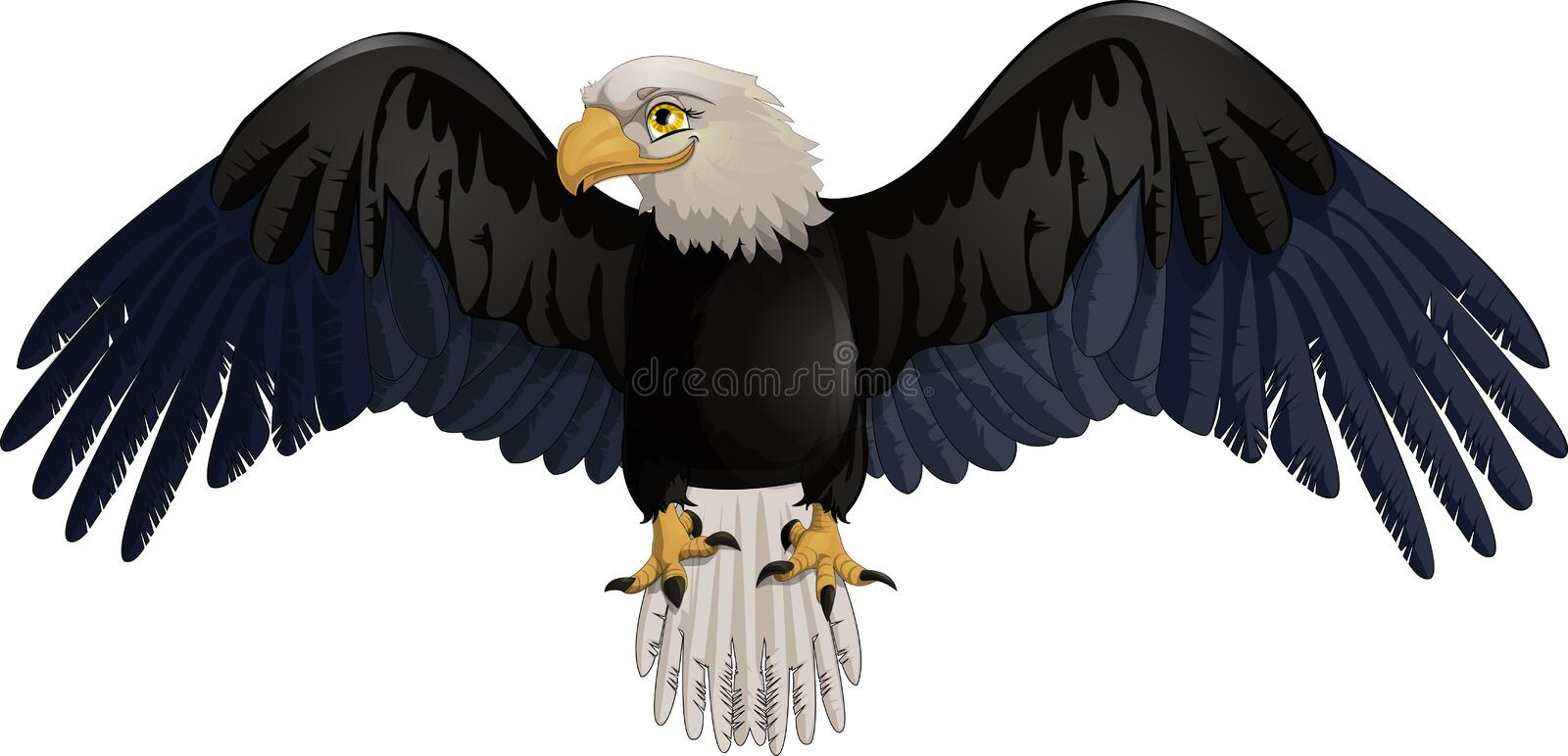 Eagle. Who is drawn on a white background stock illustration