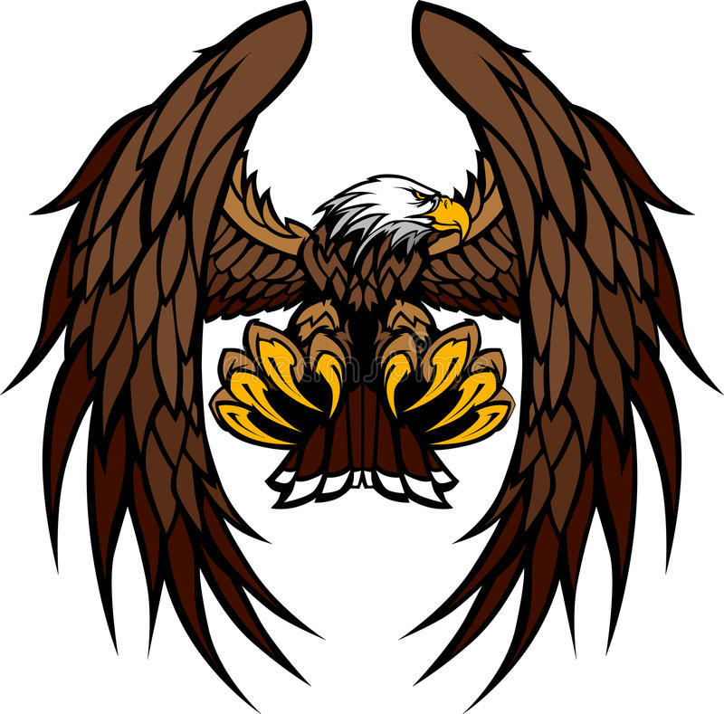 Free Eagle Wings And Claws Mascot Illustration Royalty Free Stock Photos - 21691108