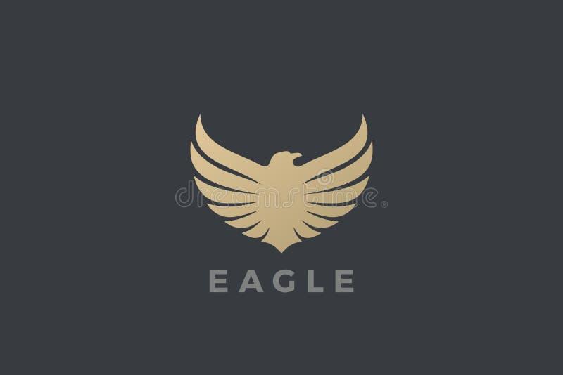 Eagle Wings Logo abstract luxury design vector template. Falcon Hawk Logotype concept icon vector illustration