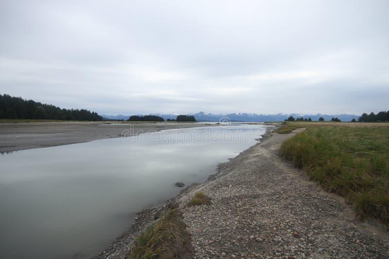 Eagle-Zustandsstrand, Juneau Alaska lizenzfreies stockbild
