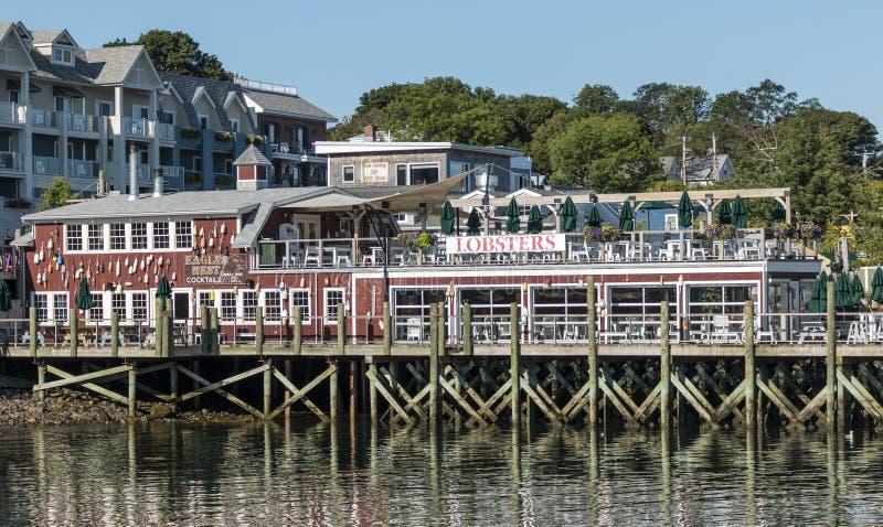 Eagles гнездятся ресторан в гавани Мейне бара стоковая фотография rf