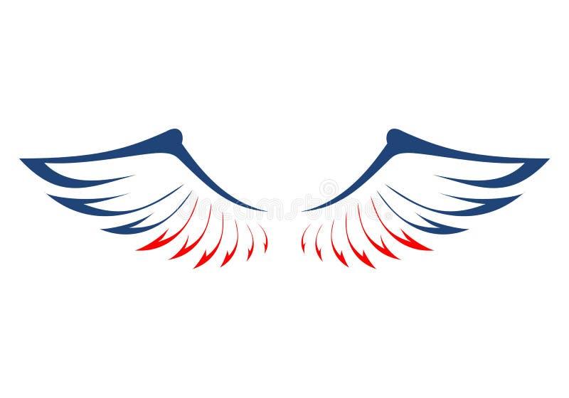 Eagles Beflügelt In Die Farben Der Amerikanischen Flagge Vektor ...