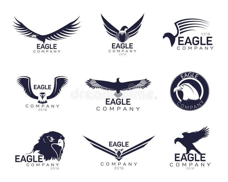 Eagles of havik, valktekens voor bedrijfmerk stock illustratie