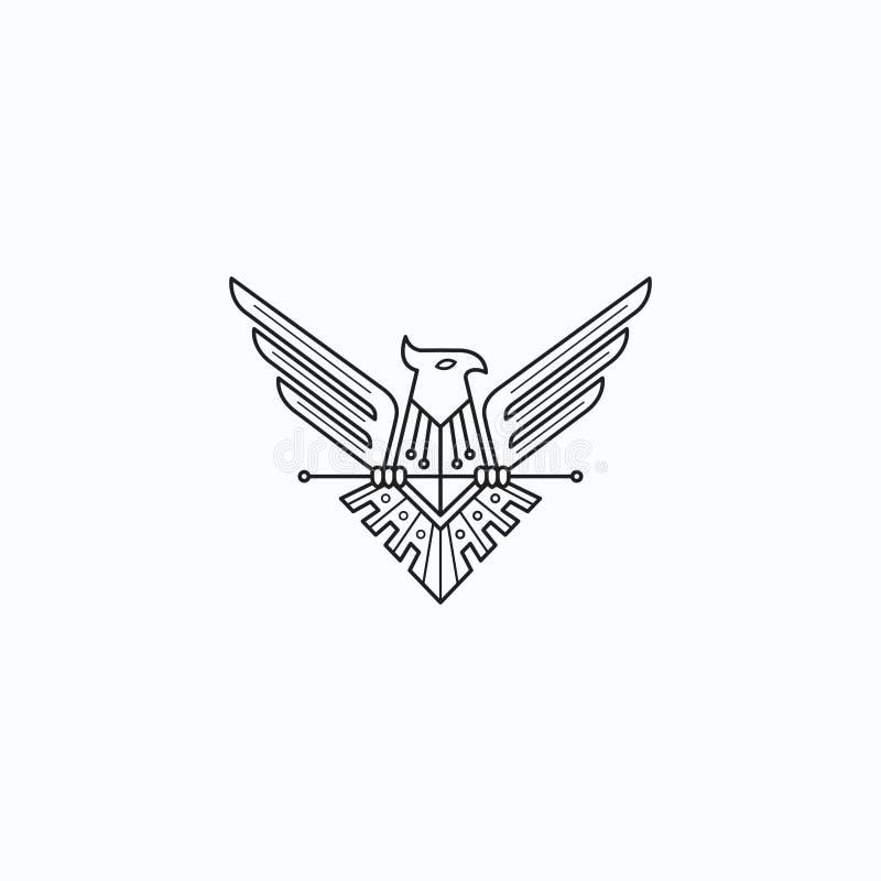 Eagles. Logo design original concept royalty free illustration
