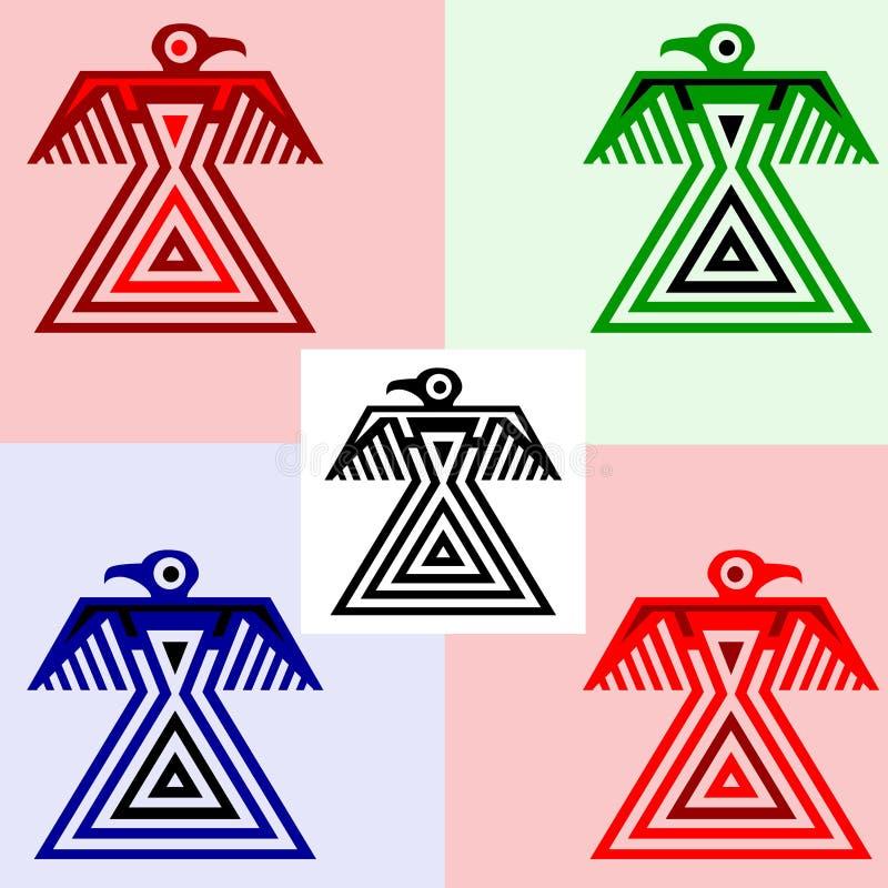 Eagles nello stile degli indiani americani illustrazione vettoriale