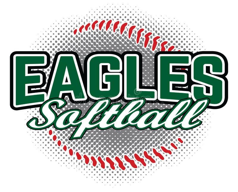 Eagles Softball Design vector illustration