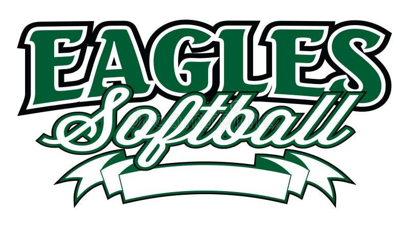 Eagles softball Z sztandarem ilustracja wektor