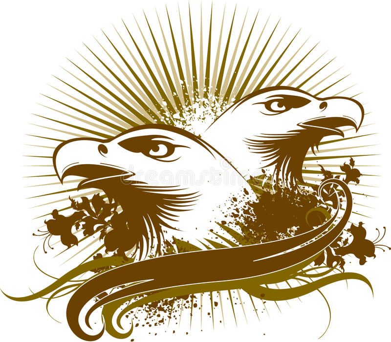 Eagles symbol. The eagles symbol pattern design vector illustration