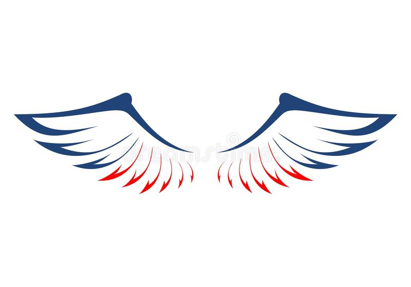 eagles wings in the colors of the american flag stock vector illustration of american america 99498474 eagles wings in the colors of the