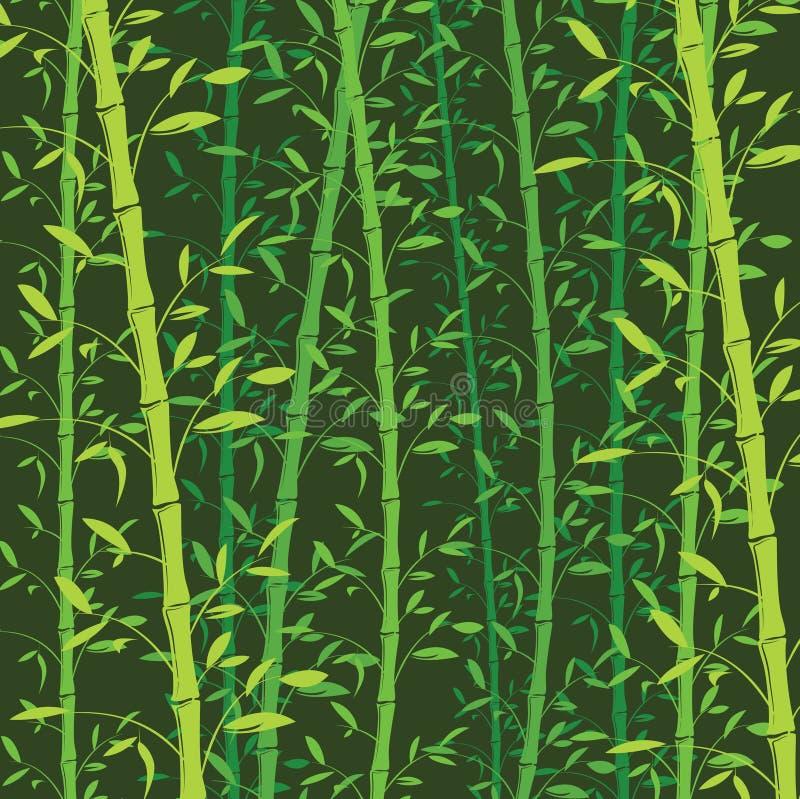 Eamless bambusa wzoru tło Zielona bambusowa tapeta royalty ilustracja