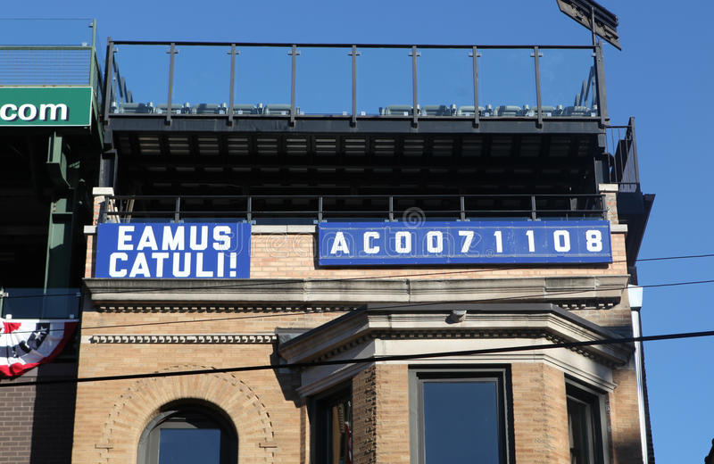 Download Eamus Catuli Sign: Let`s Go Cubs, After National League Champion  Editorial